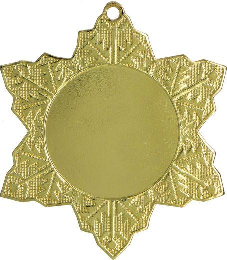 Medaille Schneeflocke Ø 50mm mit Band