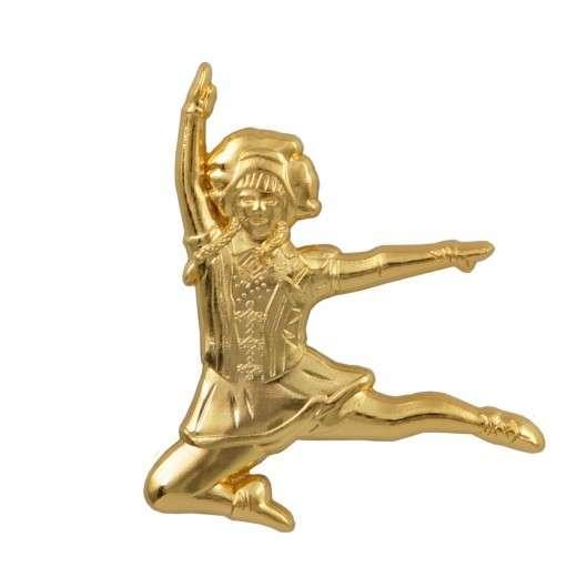 Tanzmariechen Sprung Pin 3D gegossen gold