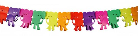 07917 1 Partydeko Papiergirlande Elefant - 6 Meter