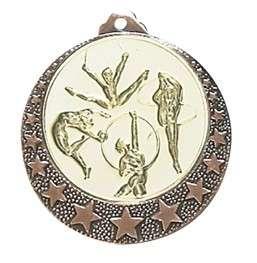 """Medaille """"Brixia"""" Ø 32mm mit Wunschemblem und Band bronze"""