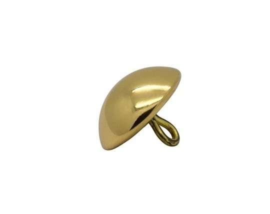 Trachtenknopf 21 mm glatt, goldfarben