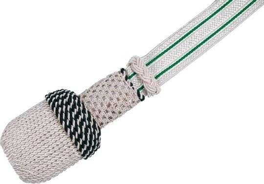 Portepee silber mit Streifen grün