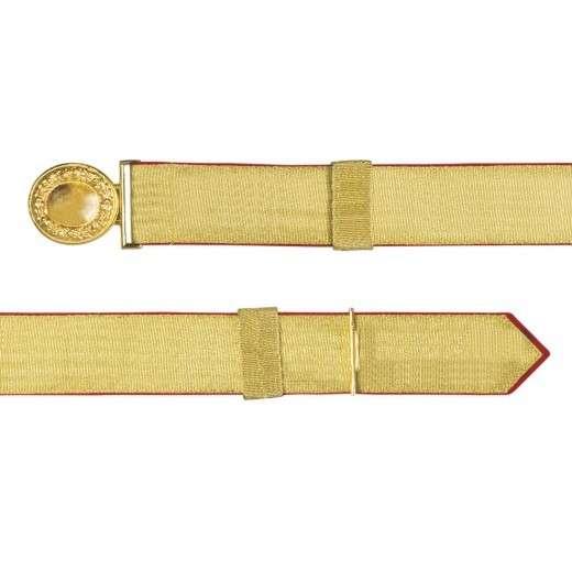Feldbinde mit goldener Tresse rot | 80-100cm | ohne Schützenemblem