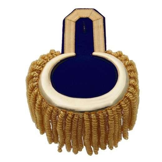 Epauletten gold (ein Paar) mit Raupen gold-blau