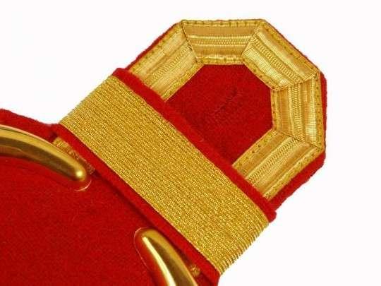 Tressenspangen (ein Paar) gold für Epauletten gold-rot