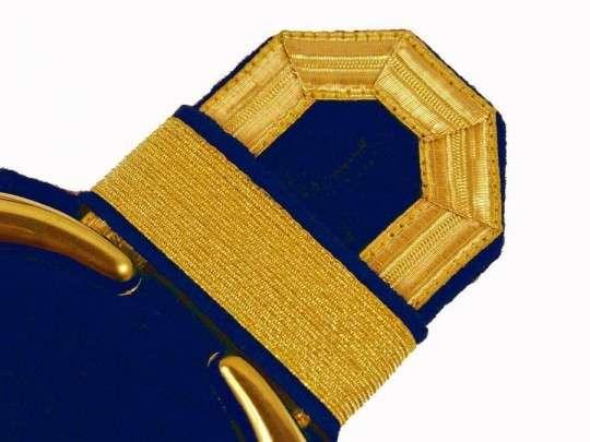 Tressenspangen (ein Paar) gold für Epauletten gold-blau
