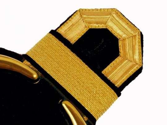 Tressenspangen (ein Paar) gold für Epauletten gold-schwarz