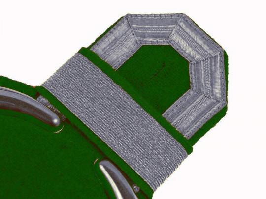 Tressenspangen (ein Paar) silber für Epauletten silber-grün