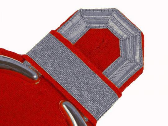 Tressenspangen (ein Paar) silber für Epauletten silber-rot