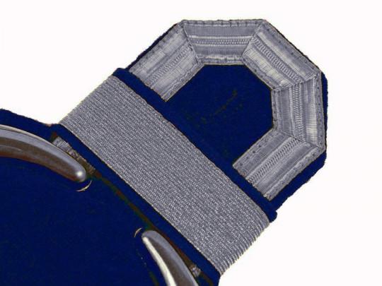 Tressenspangen (ein Paar) silber für Epauletten silber-blau
