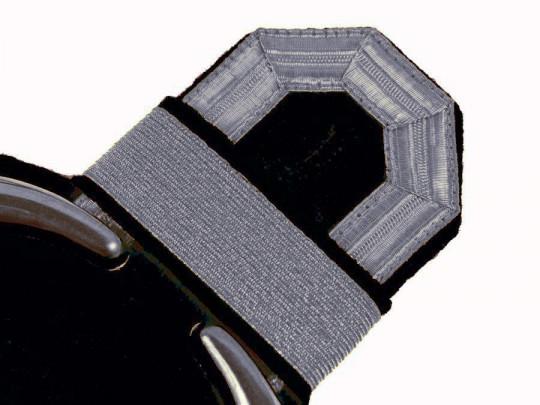 Tressenspangen (ein Paar) silber für Epauletten silber-schwarz