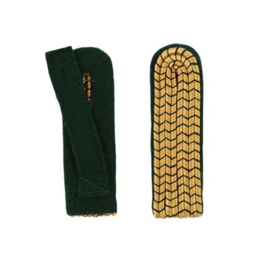 SALE: Schulterstücke mit farbigem National gold-grün