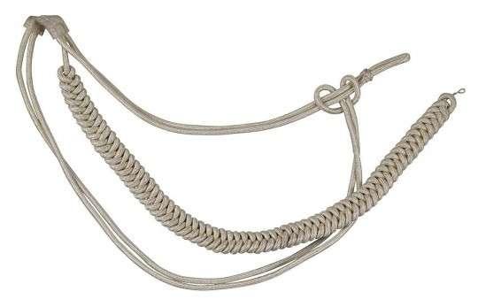 Fangschnur silber 1 Breitgeflecht und 2 Schlingen