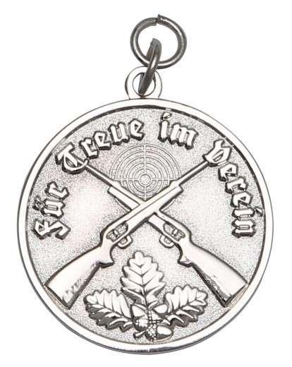 Medaille - Für Treue im Verein silber