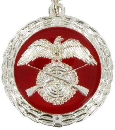 Medaille silber/rot