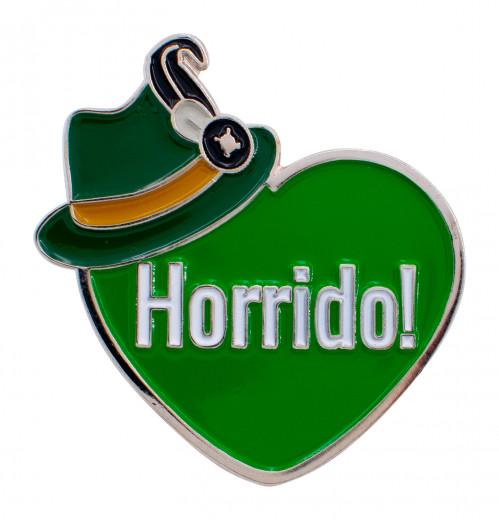 """Herzpin """"Horrido"""" grün"""