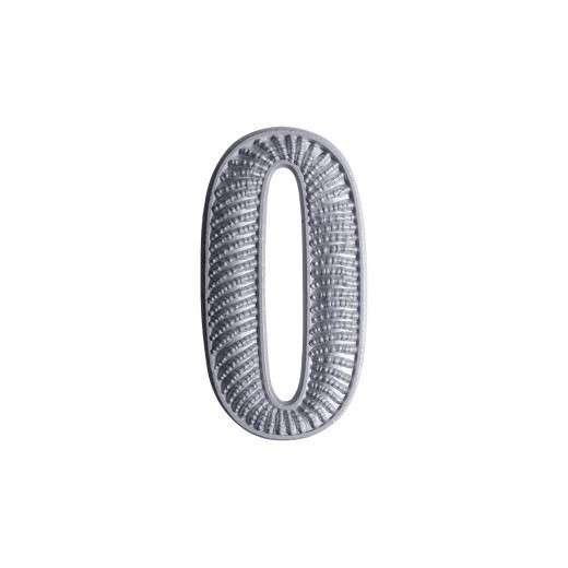 """Zahl """" 0 """" für Schulterklappe versilbert"""