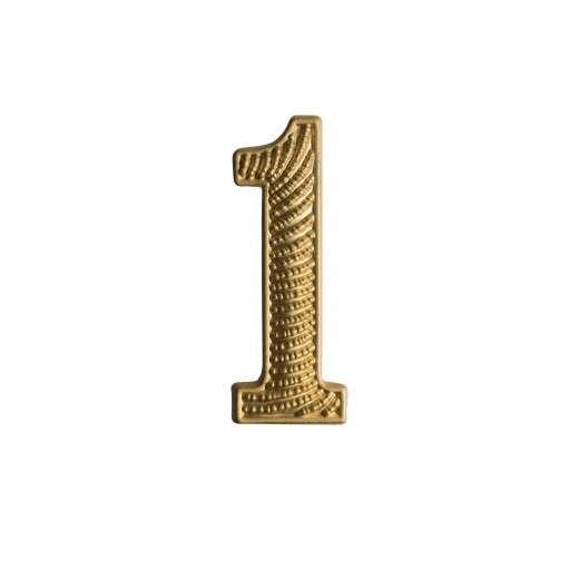 """Zahl """" 1 """" für Schulterklappe vergoldet"""