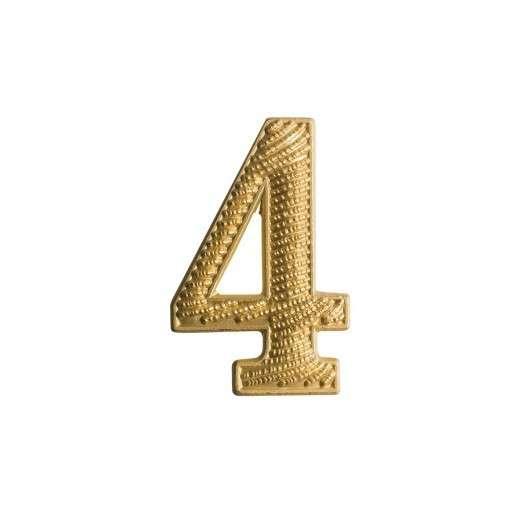 """Zahl """" 4 """" für Schulterklappe vergoldet"""