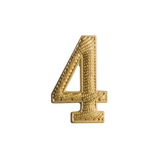"""Zahl """" 4 """" für Schulterklappe"""