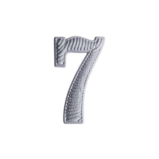 """Zahl """" 7 """" für Schulterklappe versilbert"""