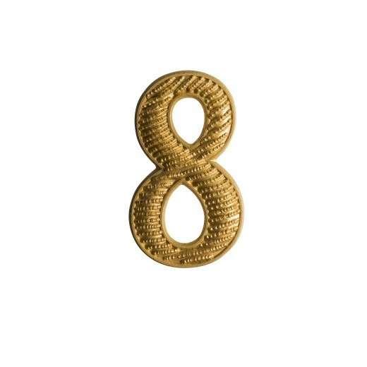 """Zahl """" 8 """" für Schulterklappe vergoldet"""