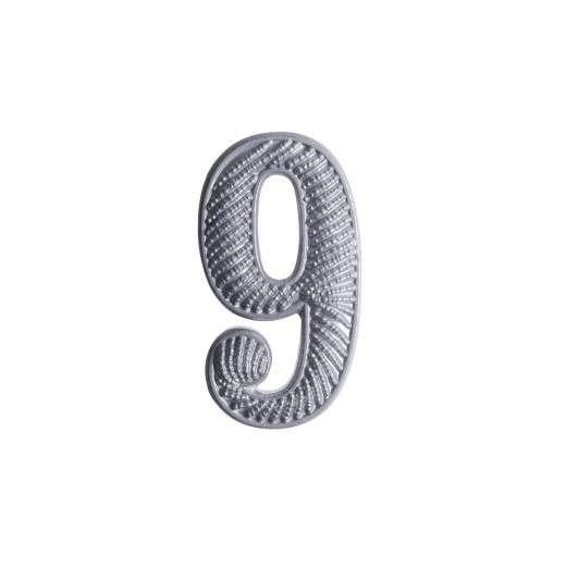"""Zahl """" 9 """" für Schulterklappe versilbert"""