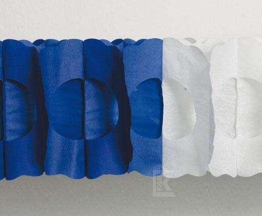 Maxi-Girlande blau/weiß, oval