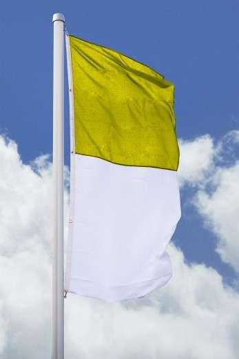 SALE: Hissfahne hoch gelb-weiß 150 x 400cm