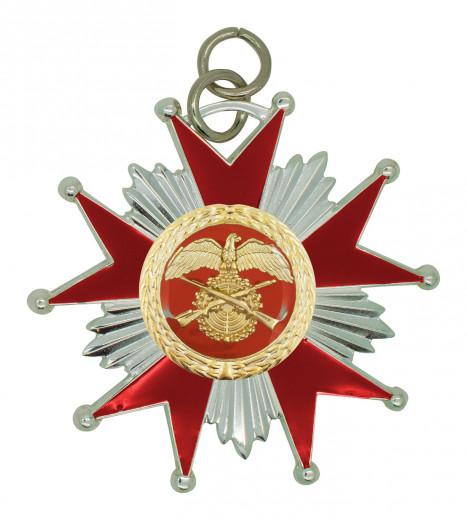 Schützenorden Stern silber/rot