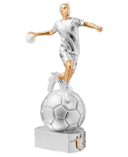 Trophäe Handballer auf Ball FS72512 silber