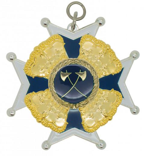 Schützenorden mit Kronen silber/blau