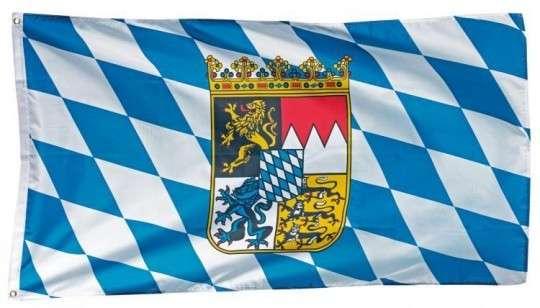 Bayernfahne mit Wappen 150x90