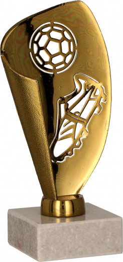 Fußball-Pokale 3er Serie TRY9081 bronze