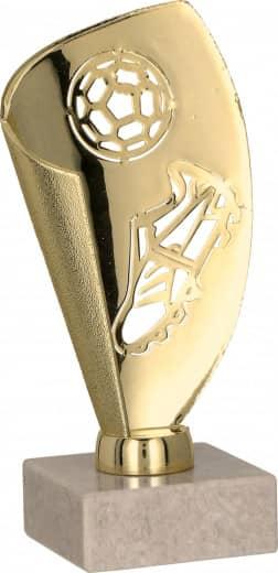 Fußball-Pokale 3er Serie TRY9081 gold