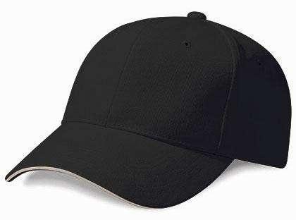 Baseballcap - Teamkappe schwarz