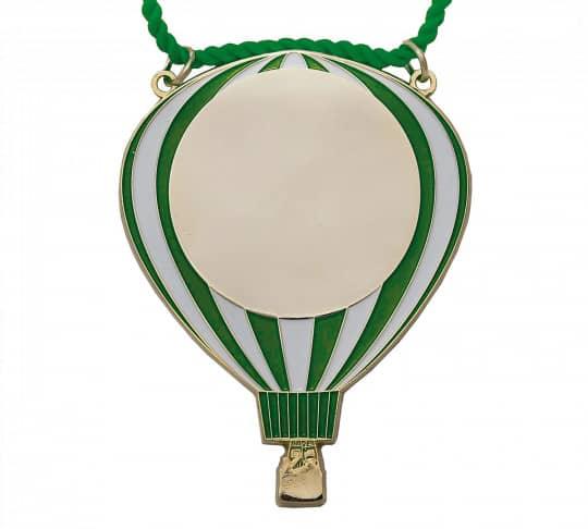 Karnevalsorden - Luftballon grün-weiß