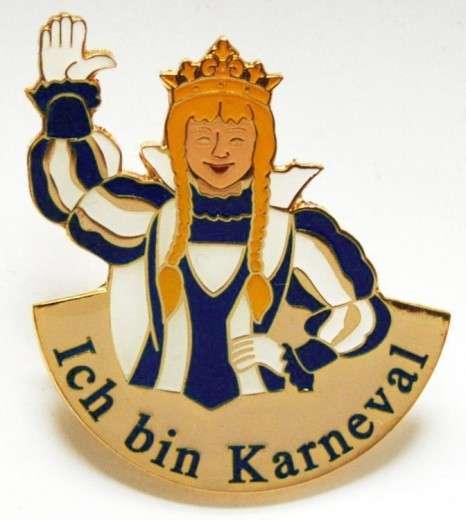 """""""Ich bin Karneval"""" - Prinzessin blau-weiß"""