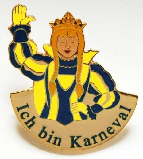 """Ich bin Karneval"" - Prinzessin gelb-blau"