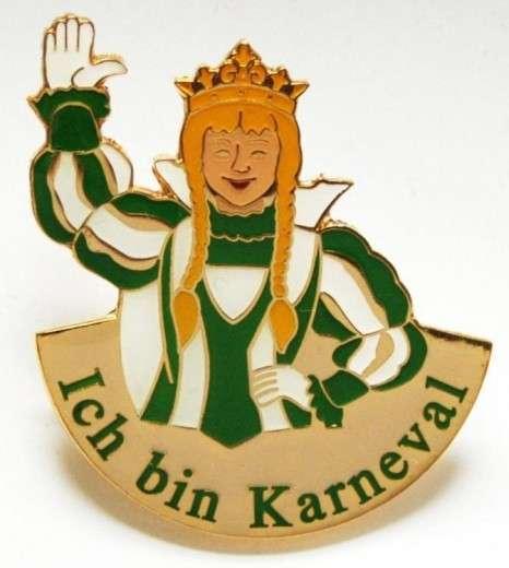 """""""Ich bin Karneval"""" - Prinzessin grün-weiß"""