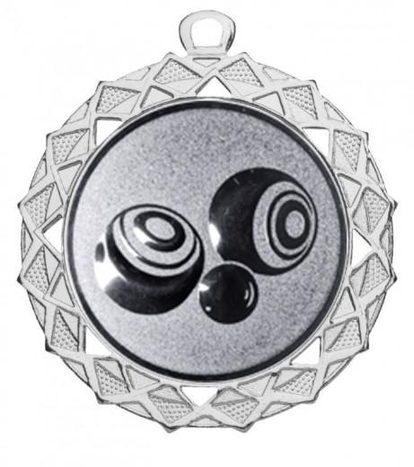 "Medaille ""Hyperion"" Ø 70 mm inkl. Wunschemblem und Kordel silber"