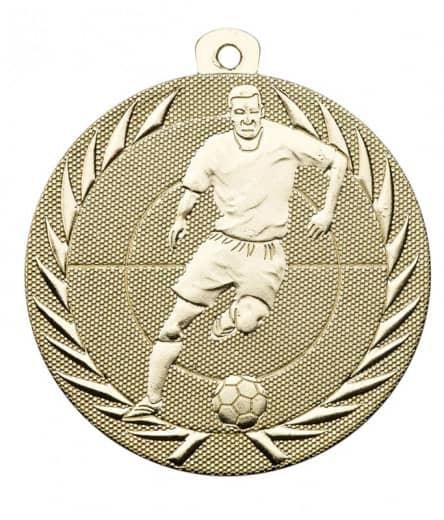 """Fußballmedaille """"Spieler"""" Ø 50 mm inkl. Kordel gold"""