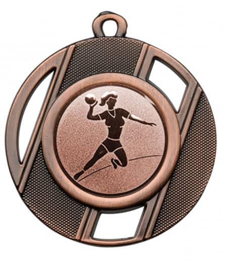 """Medaille """"Thanatos"""" Ø 50 mm inkl. Wunschemblem und Kordel bronze"""