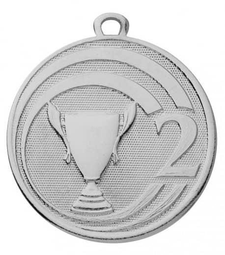 "Medaille ""Glory"" Ø 45 mm inkl. Wunschemblem und Kordel silber"
