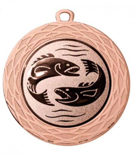 "Medaille ""Thaumas"" Ø 70 mm inkl. Wunschemblem und Kordel bronze"