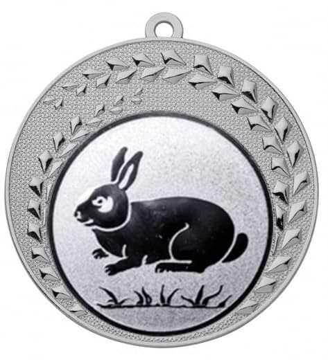 "Medaille ""Keto"" Ø 70 mm inkl. Wunschemblem und Kordel silber"