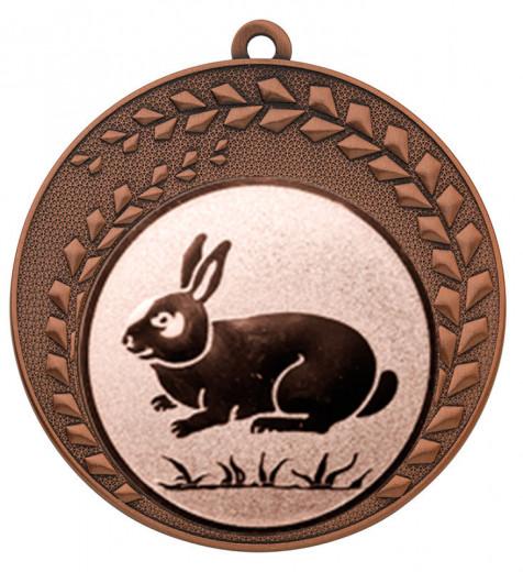 "Medaille ""Keto"" Ø 70 mm inkl. Wunschemblem und Kordel bronze"
