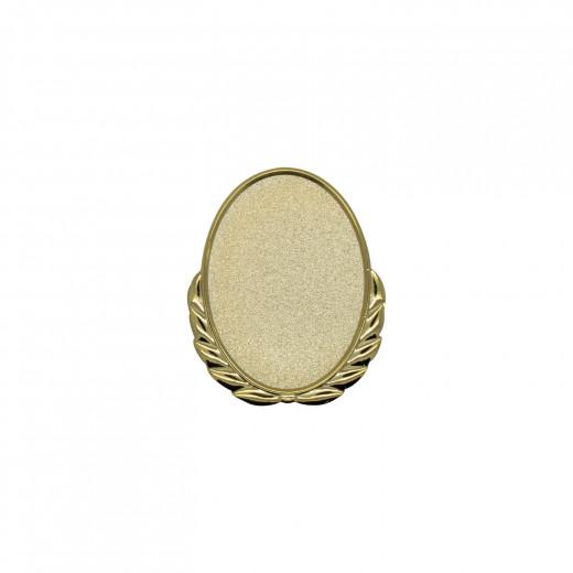 Expresspin Oval mit Kranz gold