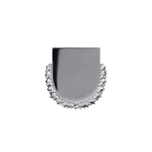 Expresspin Wappen mit Kranz - selbst gestalten silber