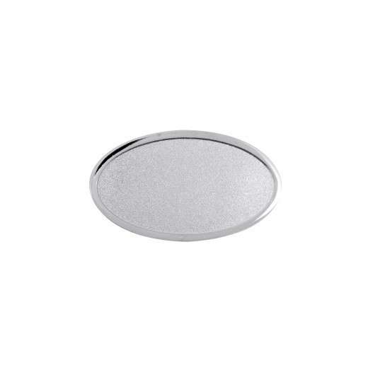 Expresspin oval 35mm x 20mm- selbst gestalten silber